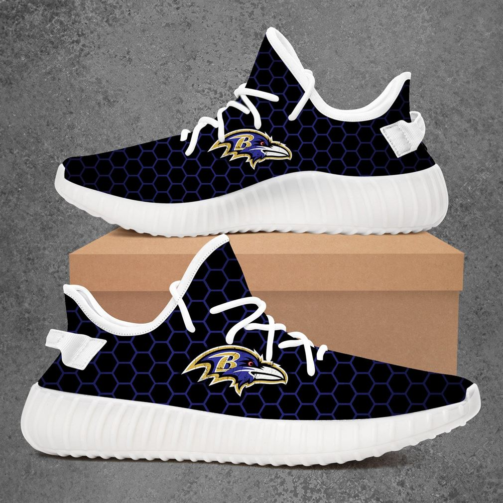Baltimore Ravens Nhl Hockey Yeezy Sneakers Shoes