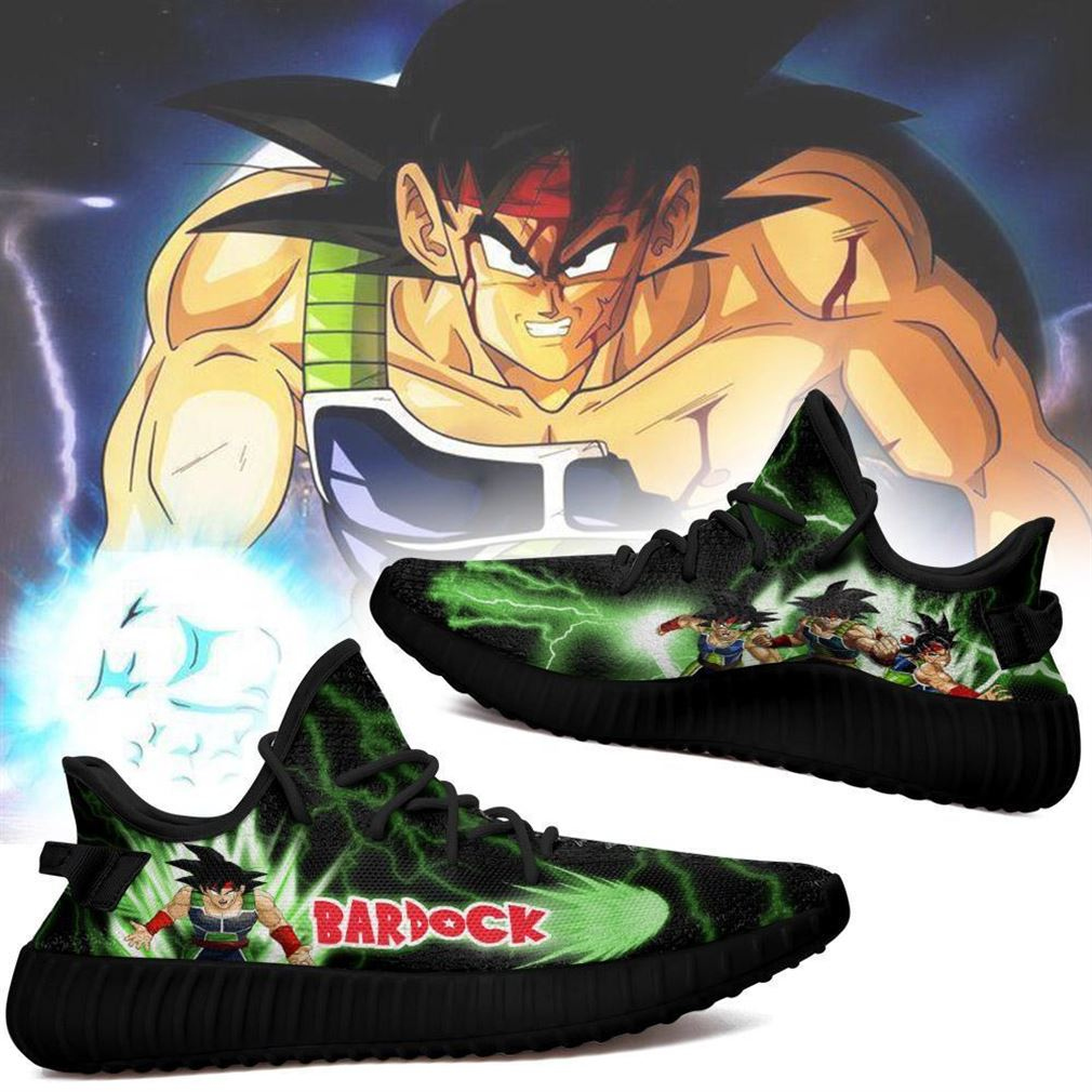 Bardock Yz Sneakers Dragon Ball Z Shoes Anime Yeezy Sneakers Shoes Black