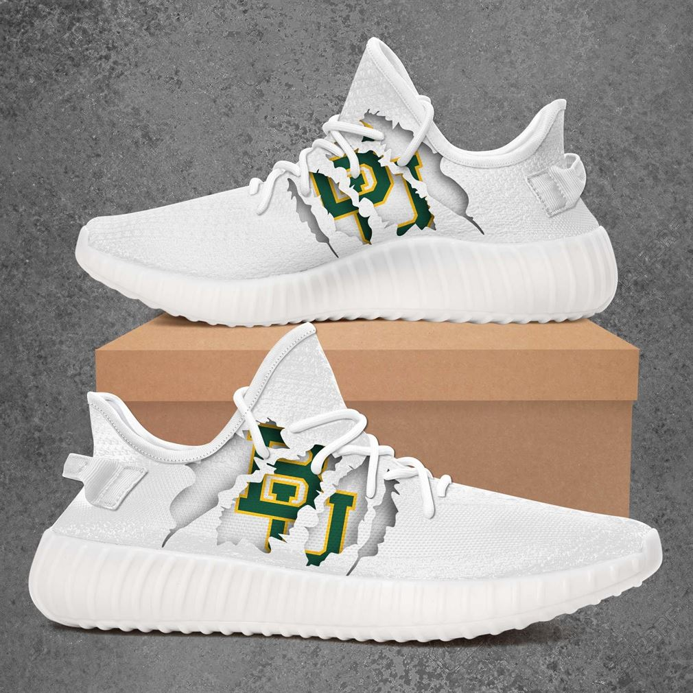 Baylor Bears Ncaa Sport Teams Yeezy Sneakers Shoes White