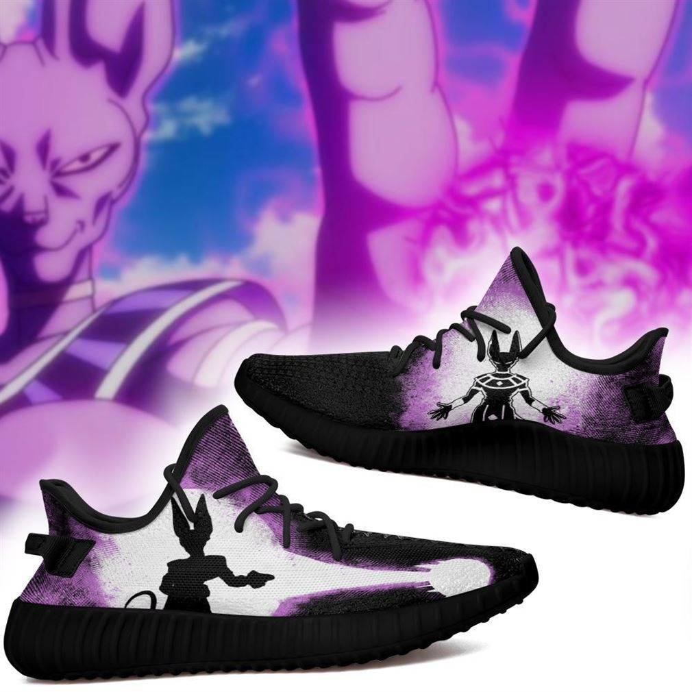 Beerus Silhouette Yz Sneakers Skill Custom Dragon Ball Z Shoes Anime Yeezy Sneakers Shoes Black