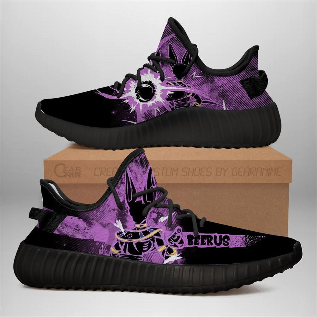 Beerus Yz Sneakers Silhouette Dragon Ball Z Anime Shoes Yeezy Sneakers Shoes Black