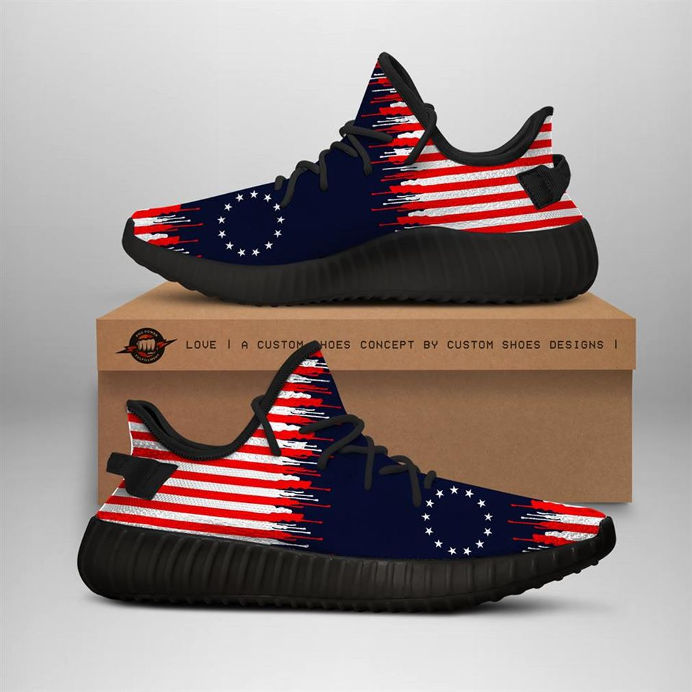Betsy Ross Flag Yeezy Sneakers Shoes