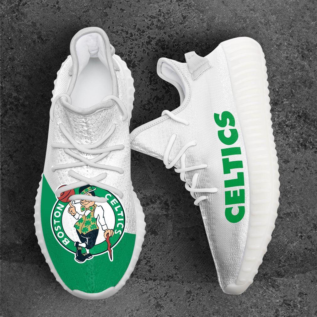 Boston Celtics Mlb Sport Teams Yeezy Sneakers Shoes White