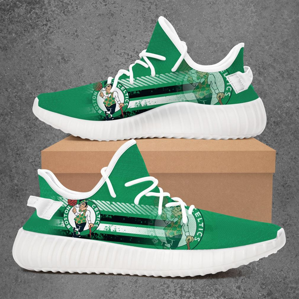 Boston Celtics Nba Basketball Yeezy Sneakers Shoes