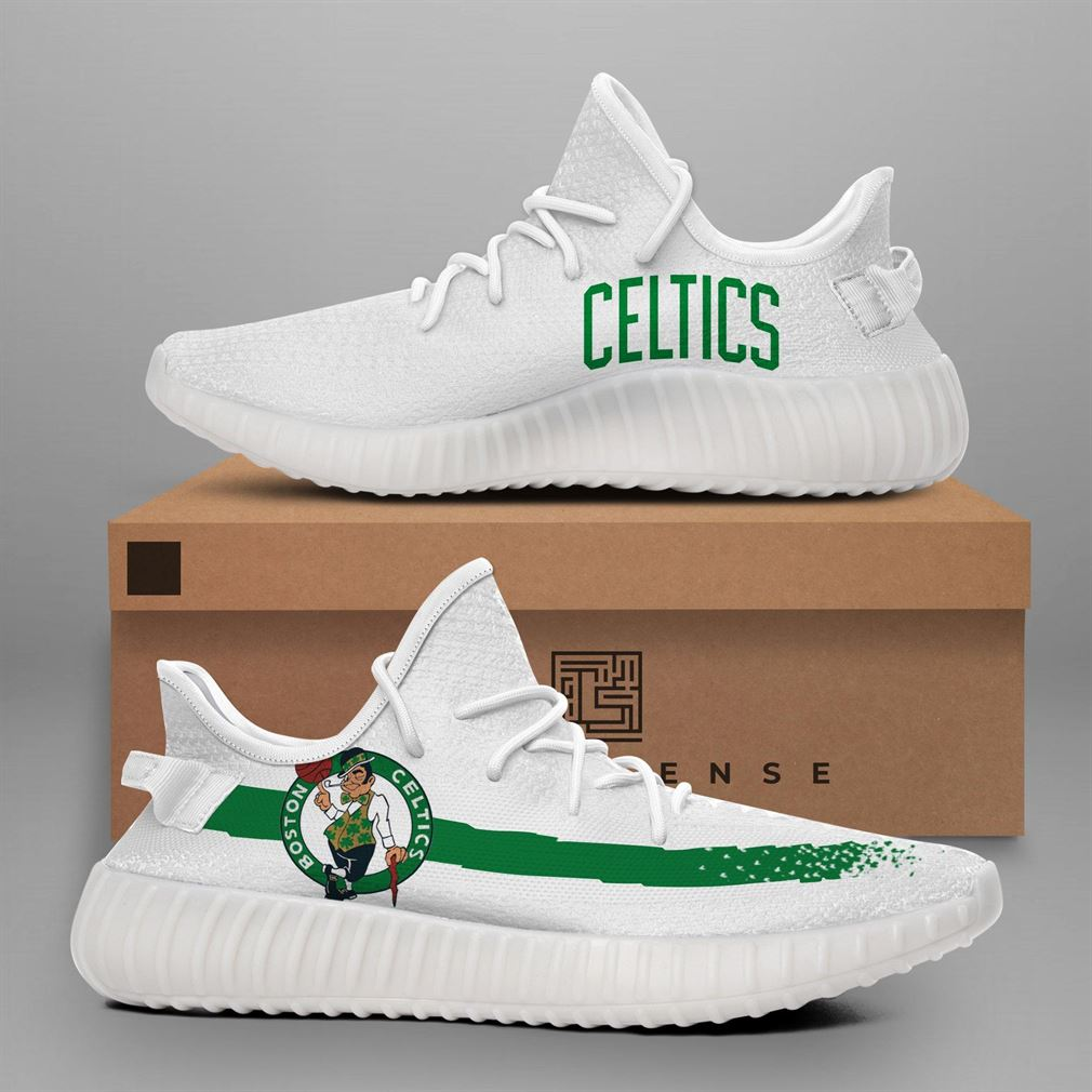 Boston Celtics Nba Teams Runing Yeezy Sneakers Shoes