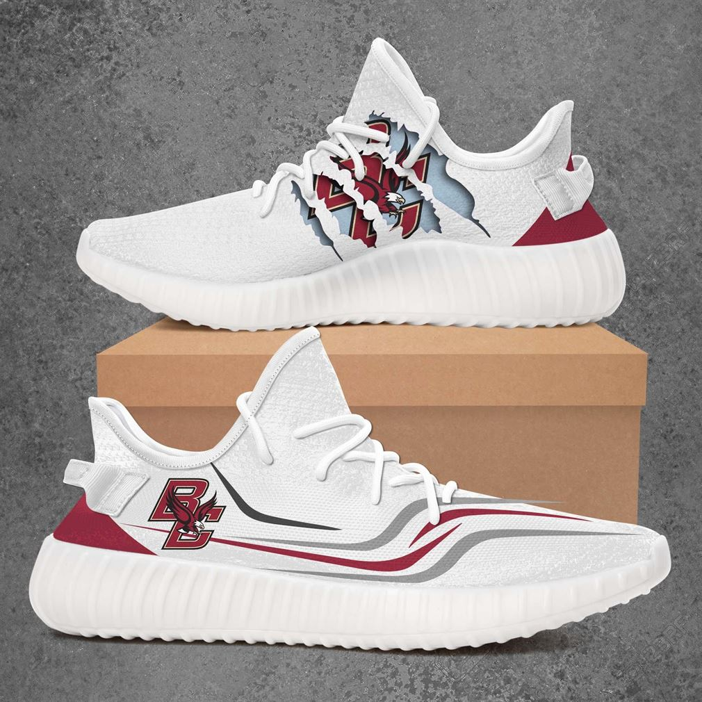 Boston College Eagles Ncaa Sport Teams Yeezy Sneakers Shoes White