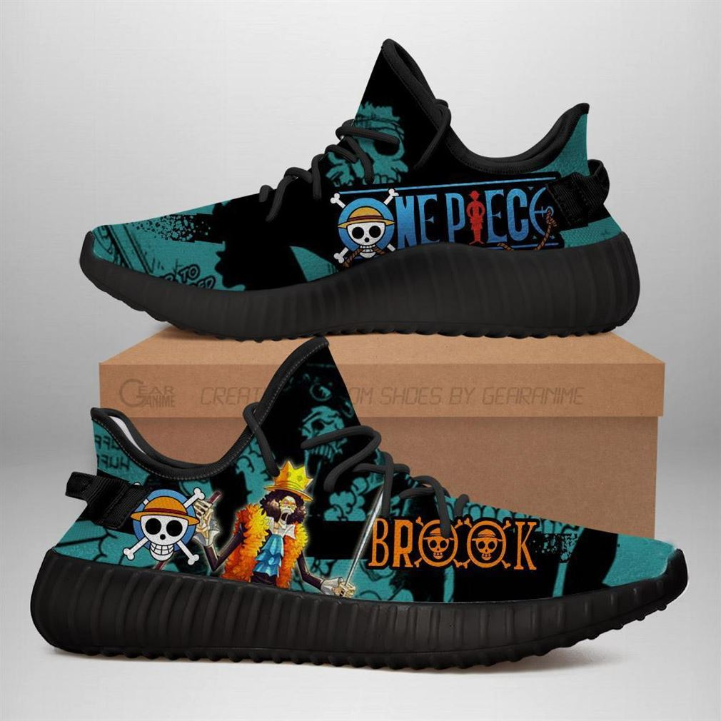 Brook Yz Sneakers One Piece Anime Shoes Yeezy Sneakers Shoes Black