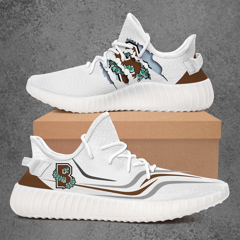 Brown Bears Ncaa Sport Teams Yeezy Sneakers Shoes White