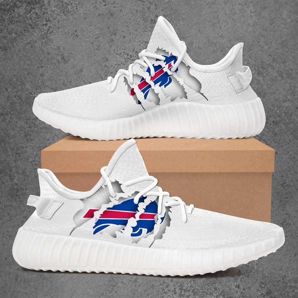 Buffalo Bills Nfl Sport Teams Yeezy Sneakers Shoes White
