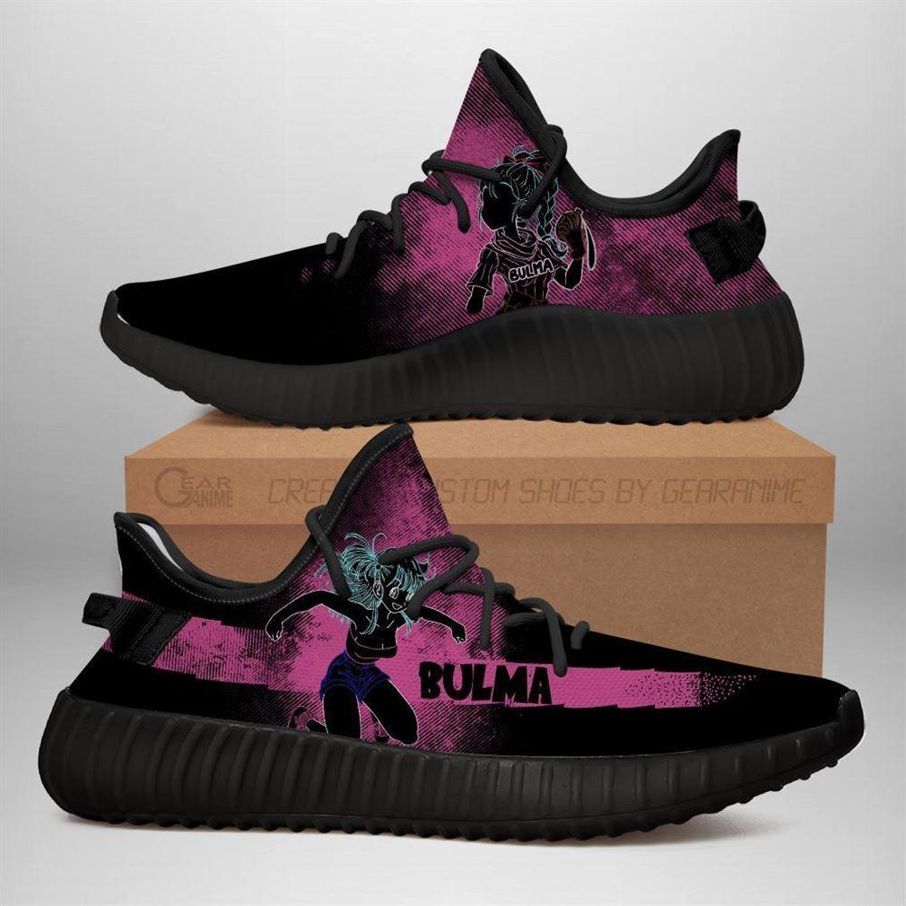 Bulma Yz Sneakers Silhouette Dragon Ball Z Anime Shoes Yeezy Sneakers Shoes Black