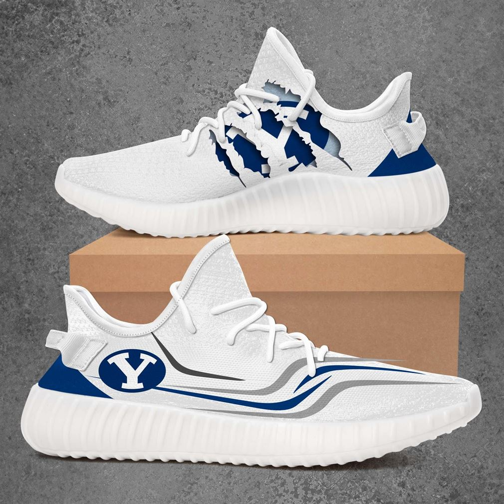 Byu Cougars Ncaa Sport Teams Yeezy Sneakers Shoes White