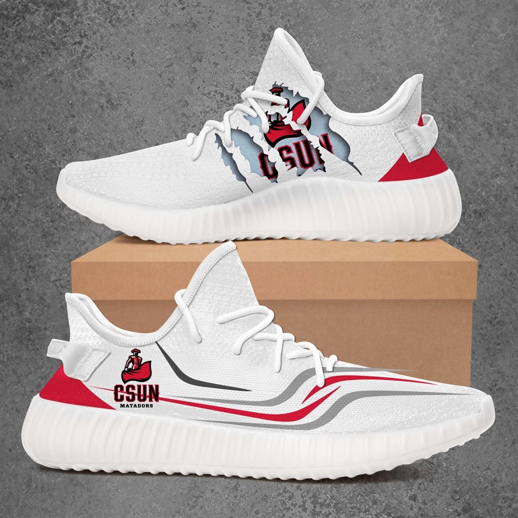 Cal State Northridge Matadors Ncaa Sport Teams Yeezy Sneakers Shoes White