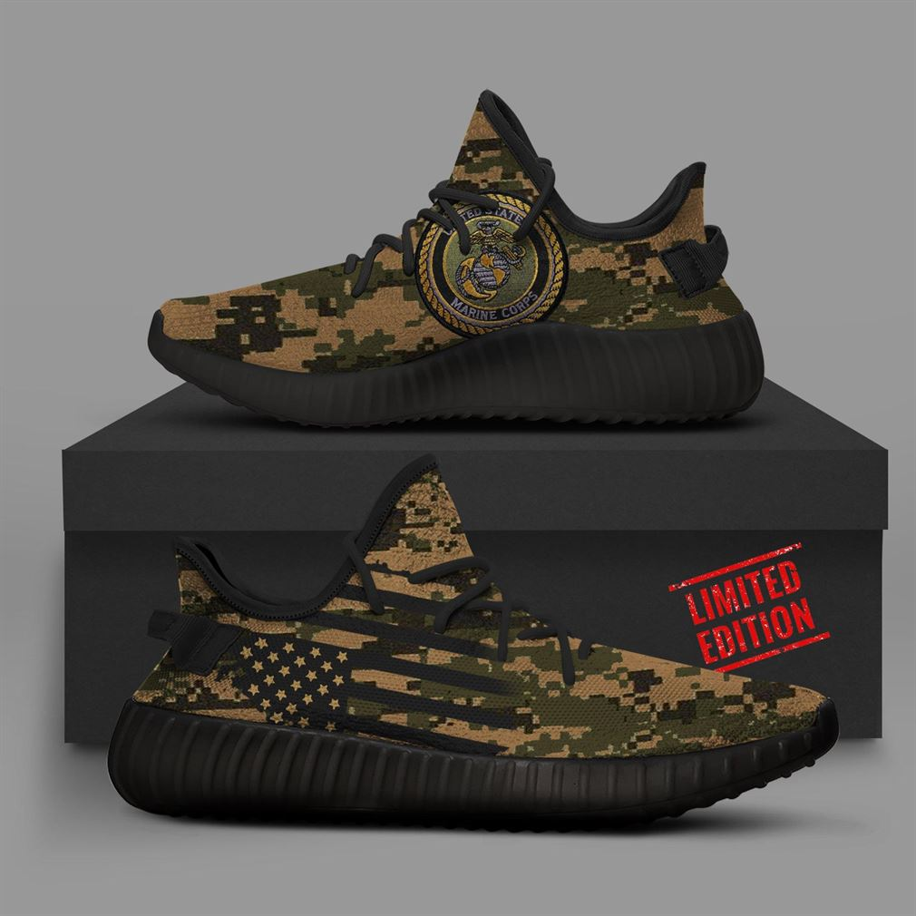 Camo Marines Runing Yeezy Sneakers Shoes