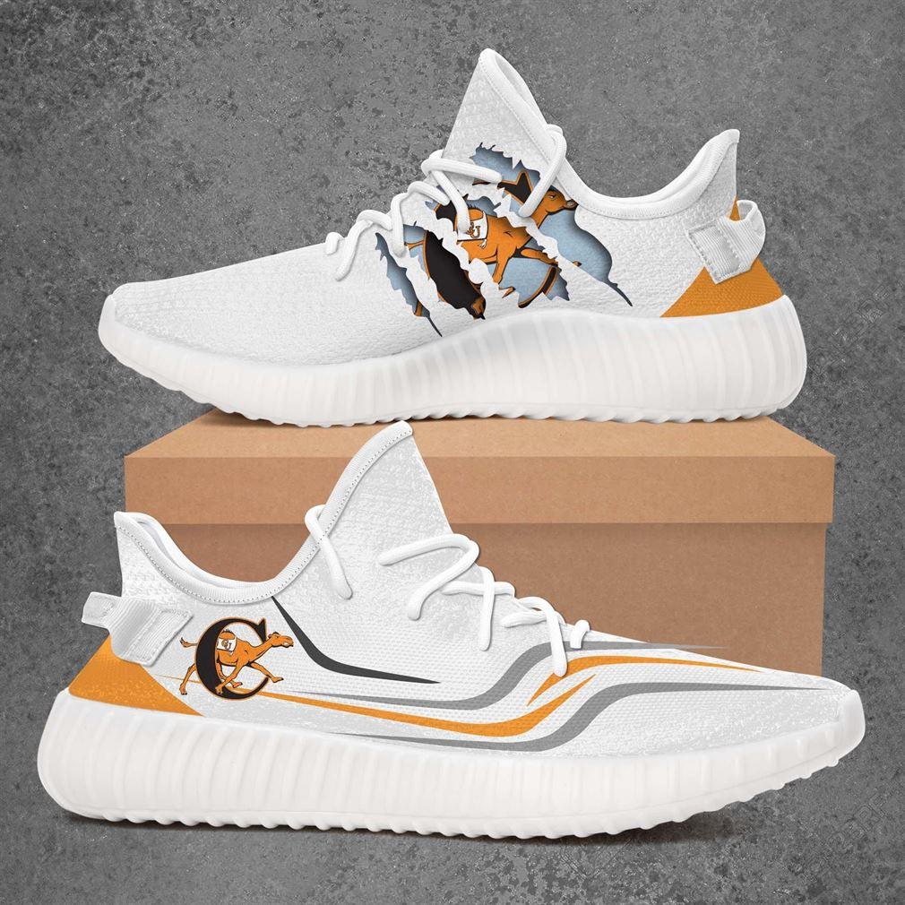 Campbell Fighting Camels Ncaa Sport Teams Yeezy Sneakers Shoes White