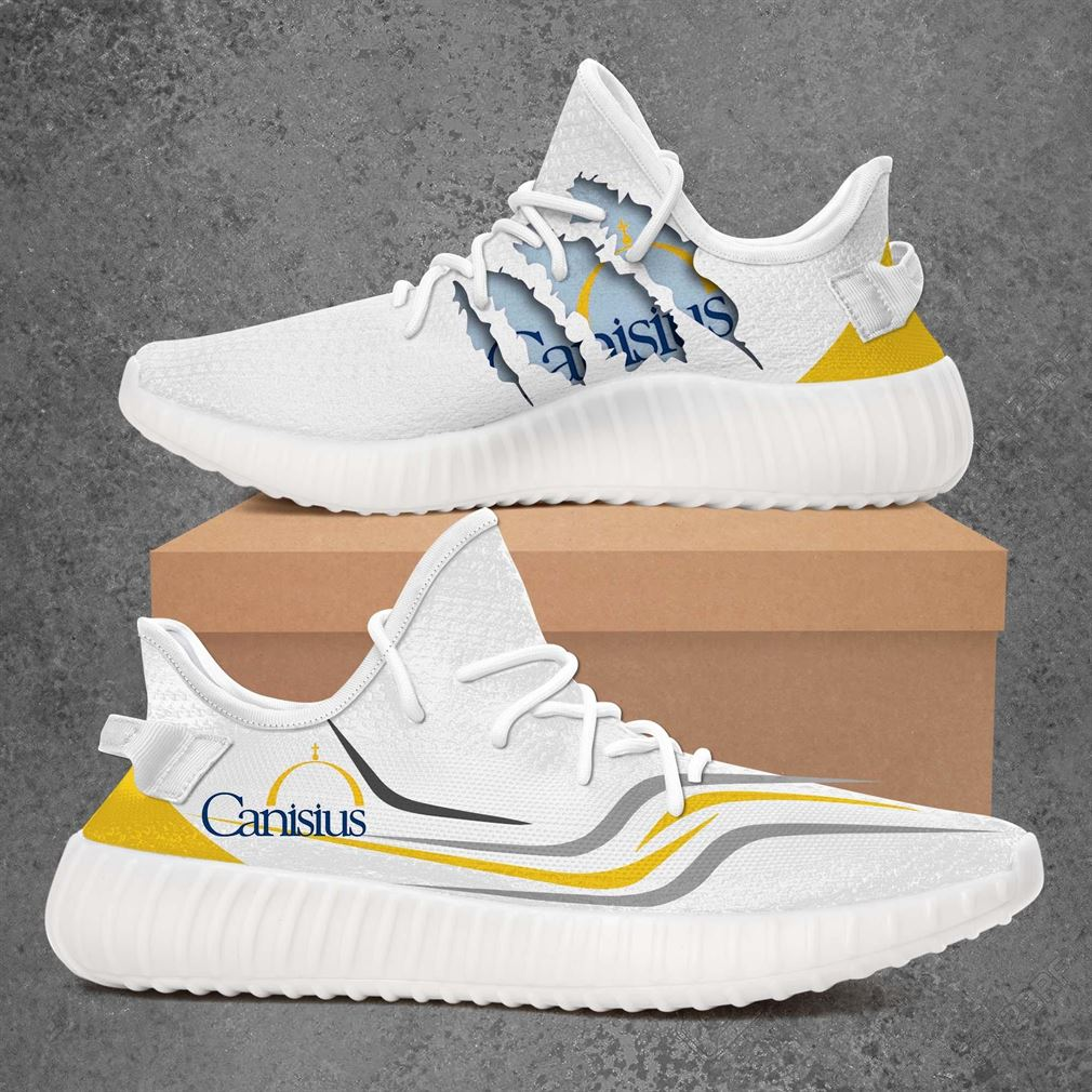 Canisius College Golden Griffins Ncaa Sport Teams Yeezy Sneakers Shoes White