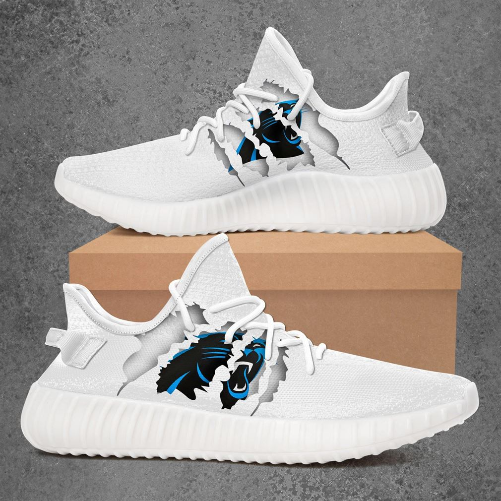 Carolina Panthers Nfl Sport Teams Yeezy Sneakers Shoes White