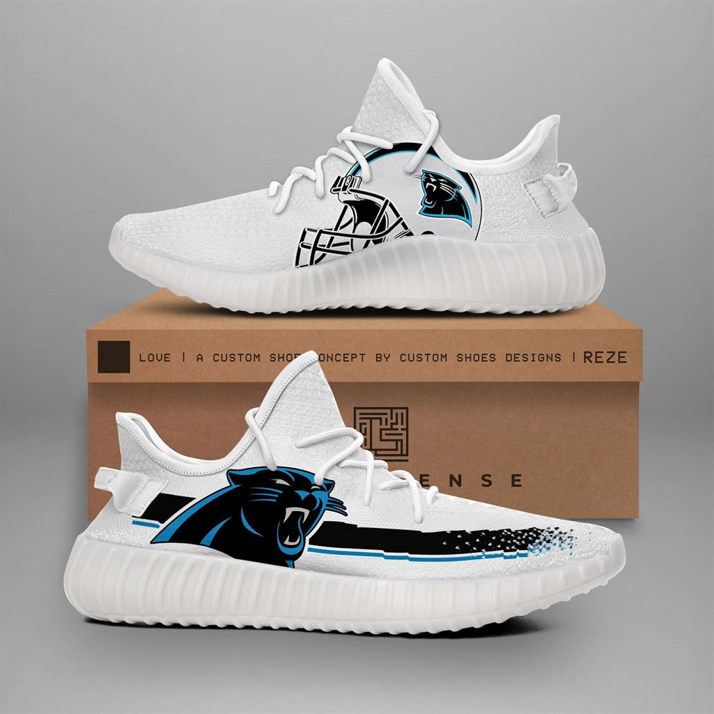Carolina Panthers Nfl Teams Runing Yeezy Sneakers Shoes