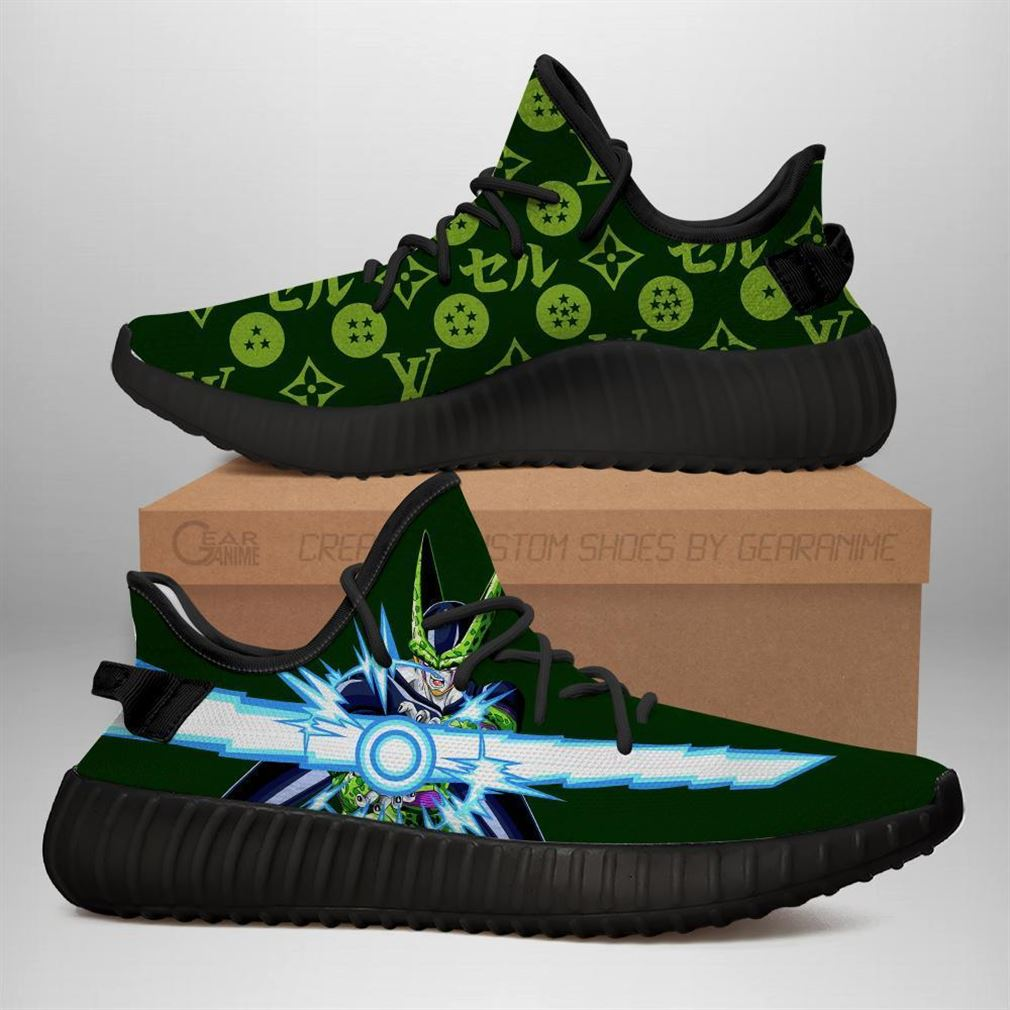 Cell Yz Sneakers Dragon Ball Shoes Anime Yeezy Sneakers Shoes Black