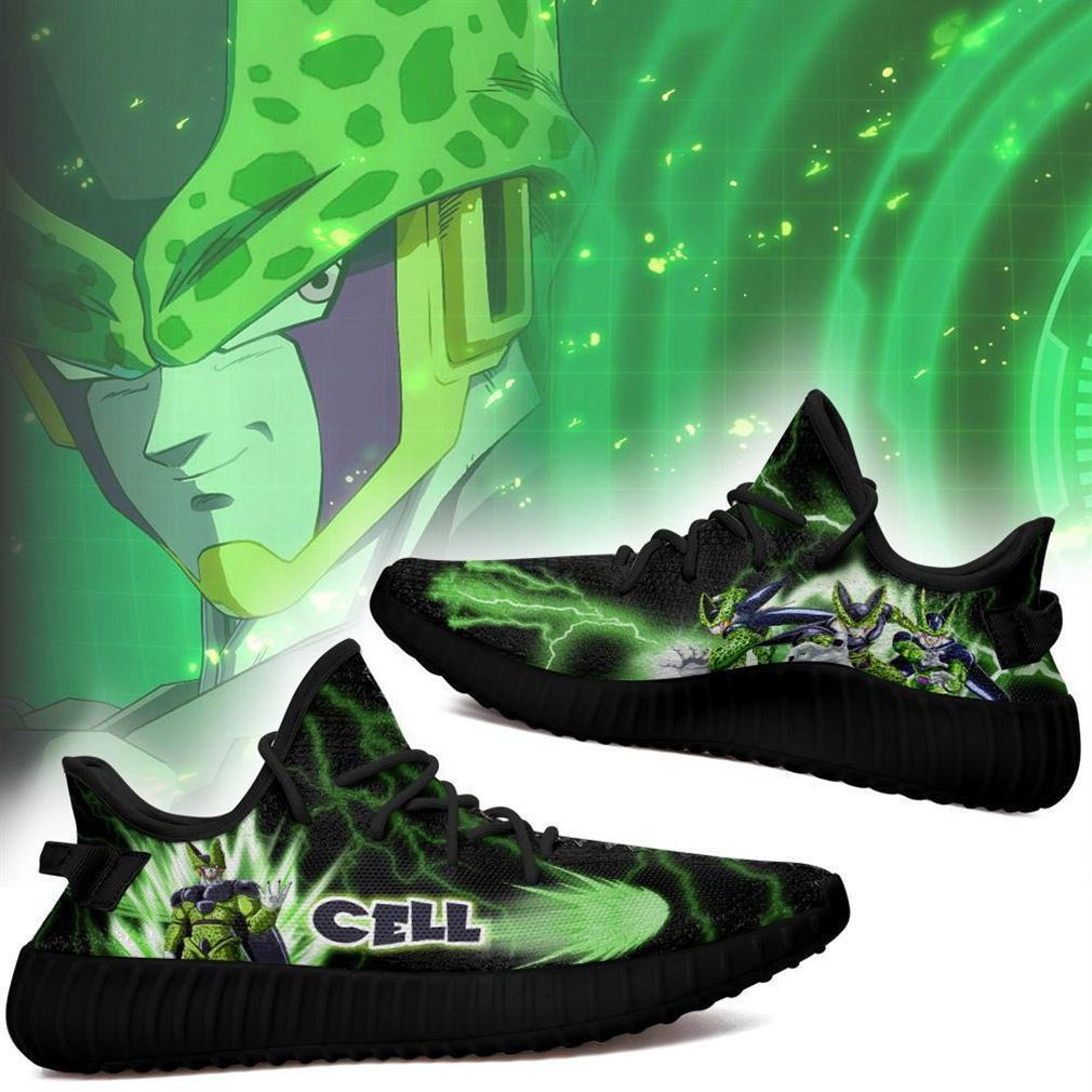 Cell Yz Sneakers Dragon Ball Z Shoes Anime Yeezy Sneakers Shoes Black