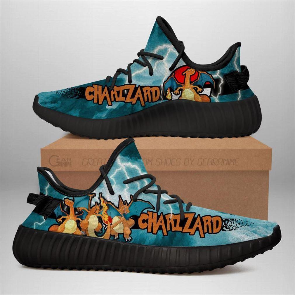 Charizard Yz Sneakers Pokemon Shoes Anime Yeezy Sneakers Shoes Black
