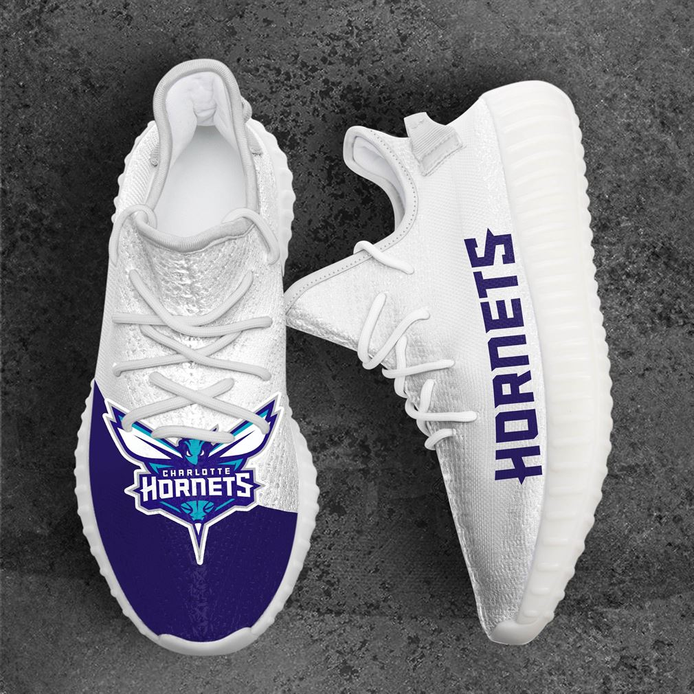 Charlotte Hornets Mlb Sport Teams Yeezy Sneakers Shoes White