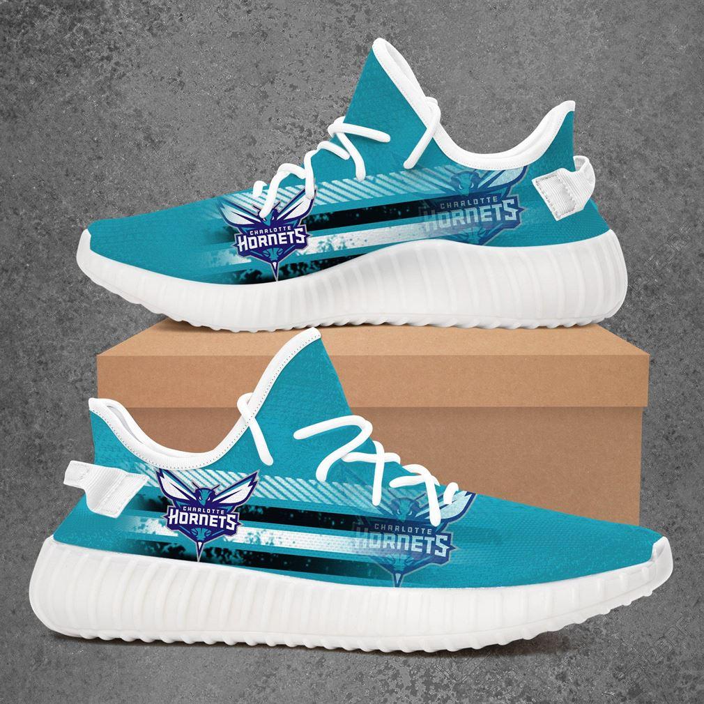 Charlotte Hornets Nba Basketball Yeezy Sneakers Shoes