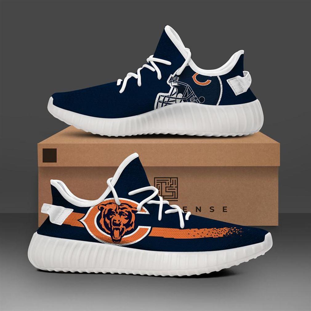 Chicago Bears Black Nfl Teams Runing Yeezy Sneakers Shoes