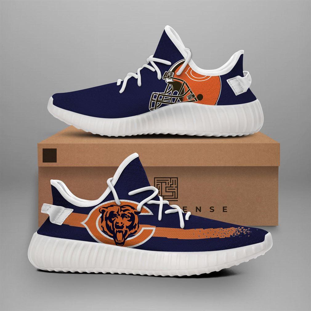 Chicago Bears Navi Nfl Teams Runing Yeezy Sneakers Shoes