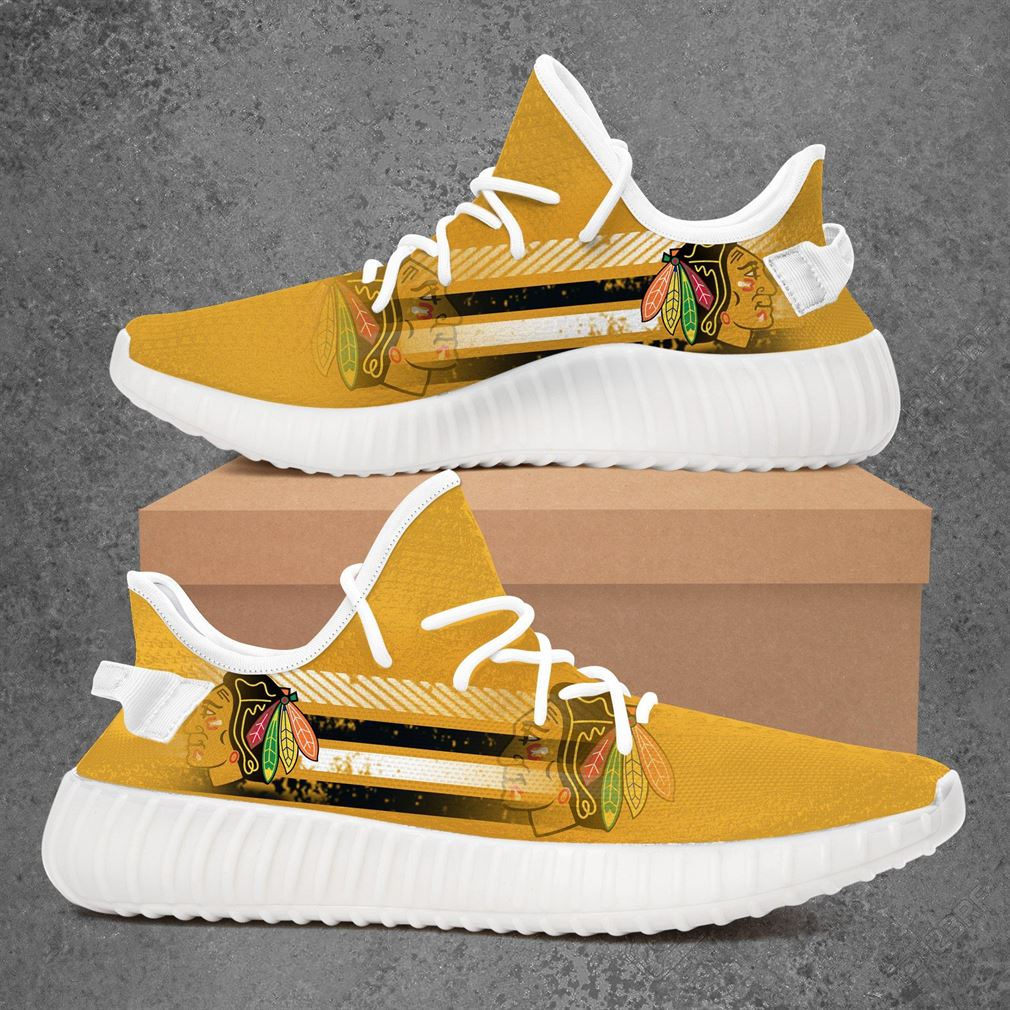 Chicago Blackhawks Nfl Football Yeezy Sneakers Shoes