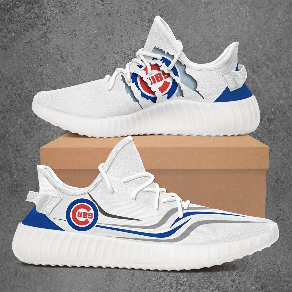 Chicago Cubs Mlb Sport Teams Yeezy Sneakers Shoes White