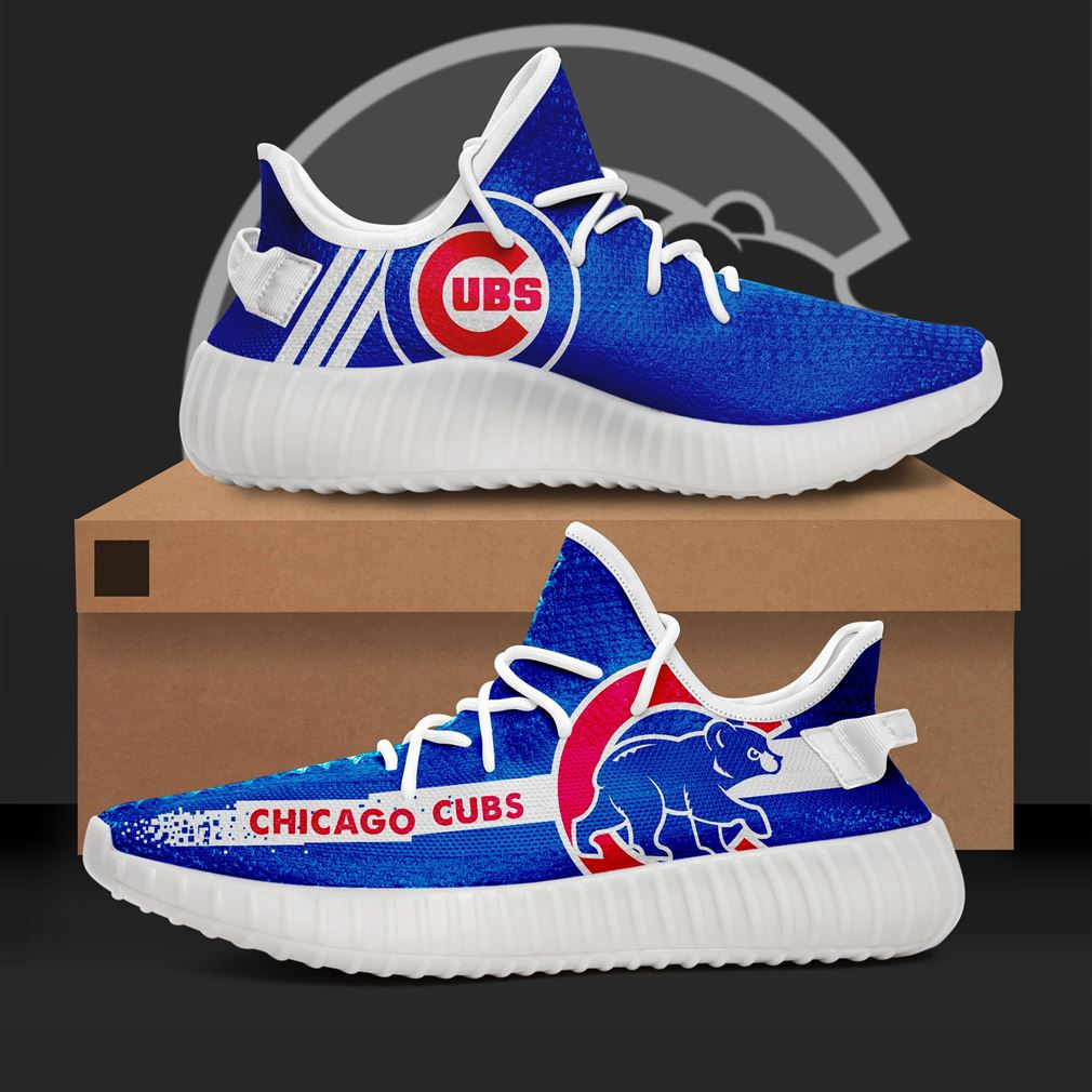 Chicago Cubs Mlb Teams Runing Yeezy Sneakers Shoes