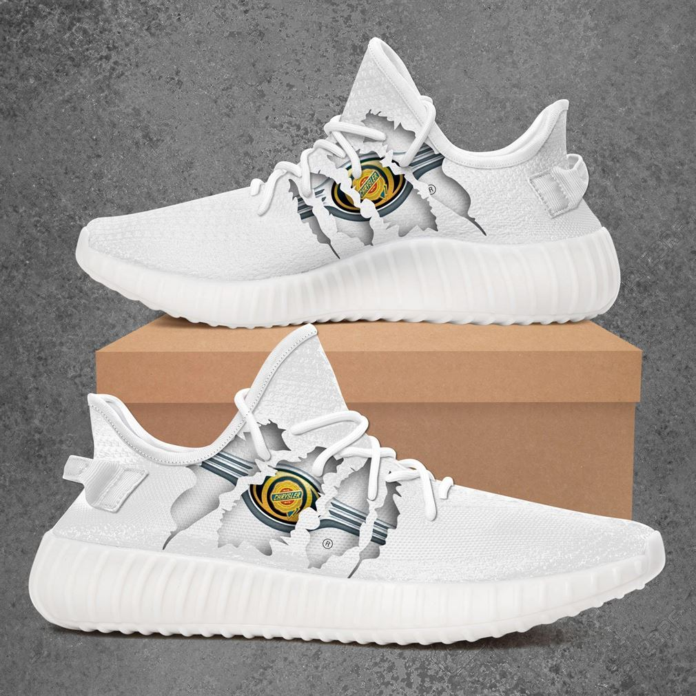 Chrysler Car Yeezy Sneakers Shoes White