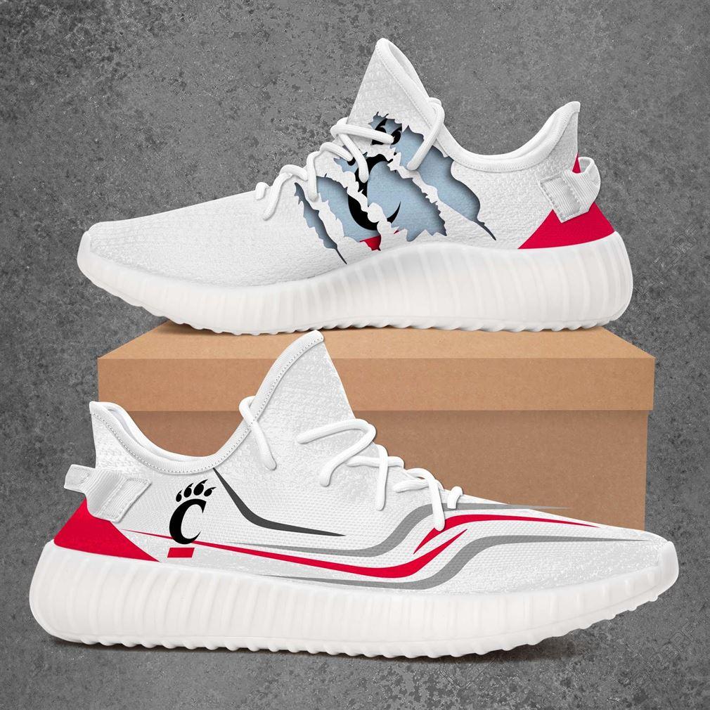 Cincinnati Bearcats Ncaa Sport Teams Yeezy Sneakers Shoes White