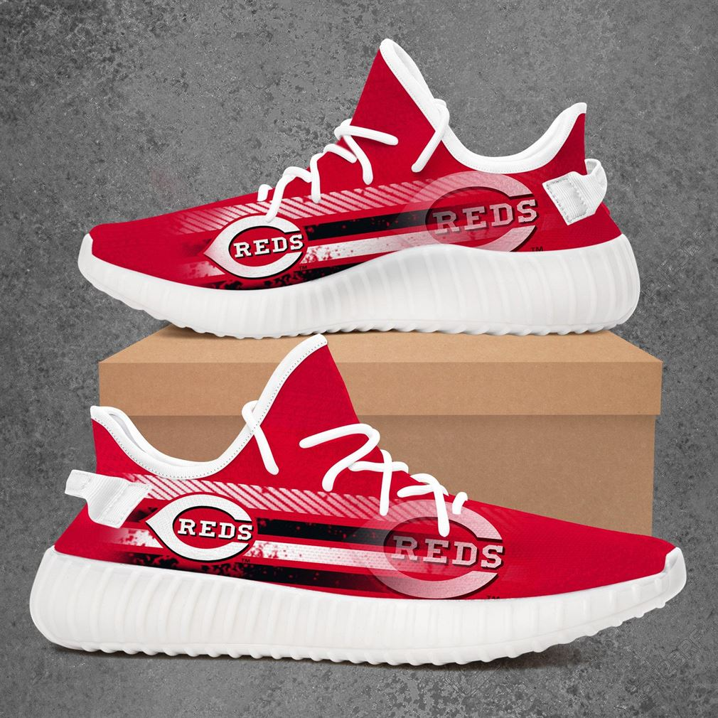Cincinnati Reds Mlb Baseball Yeezy Sneakers Shoes