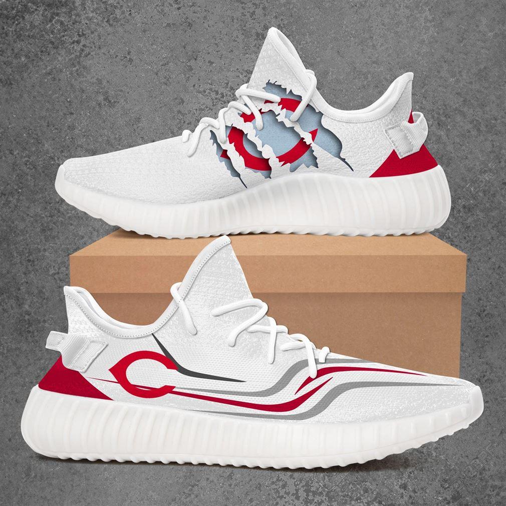 Cincinnati Reds Mlb Sport Teams Yeezy Sneakers Shoes White