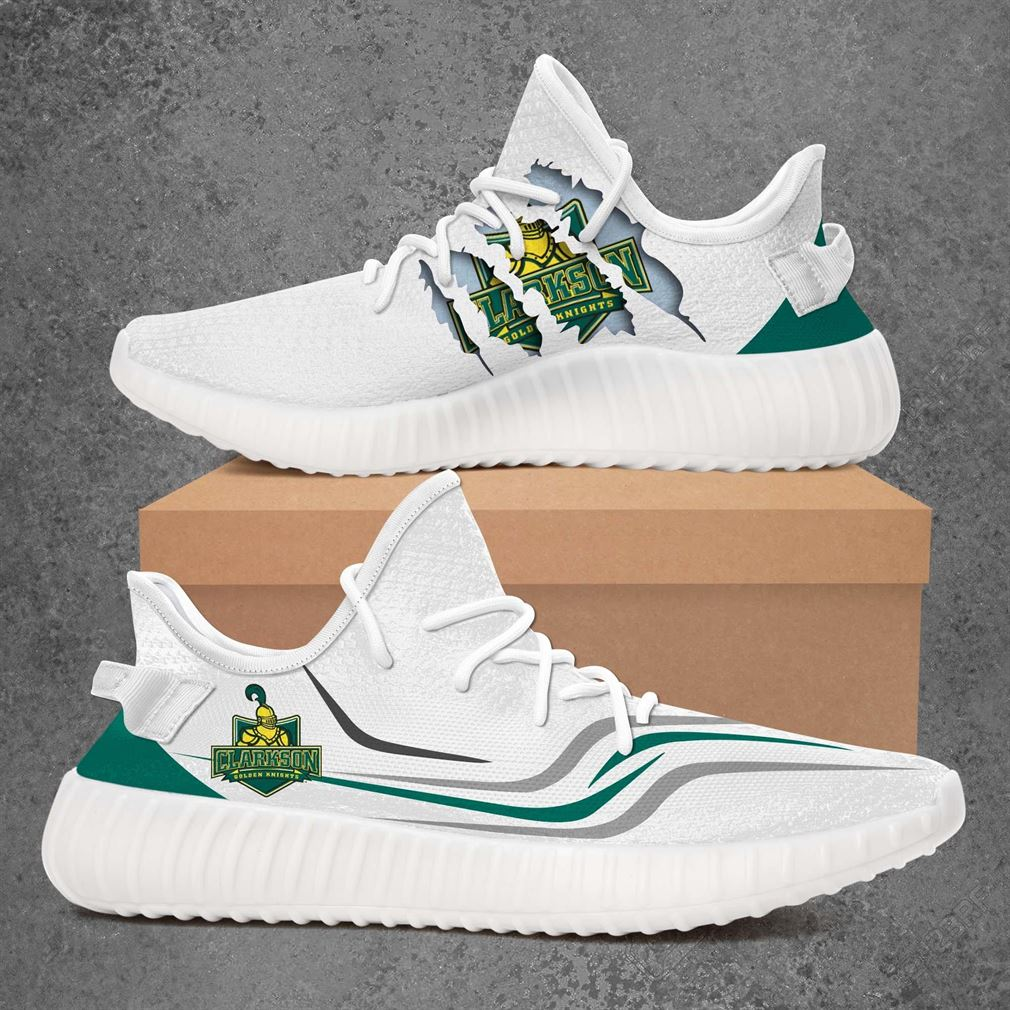 Clarkson Golden Knights Ncaa Sport Teams Yeezy Sneakers Shoes White