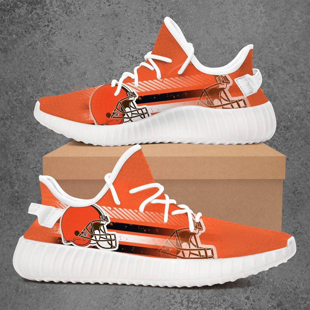 Cleveland Browns Nfl Football Yeezy Sneakers Shoes