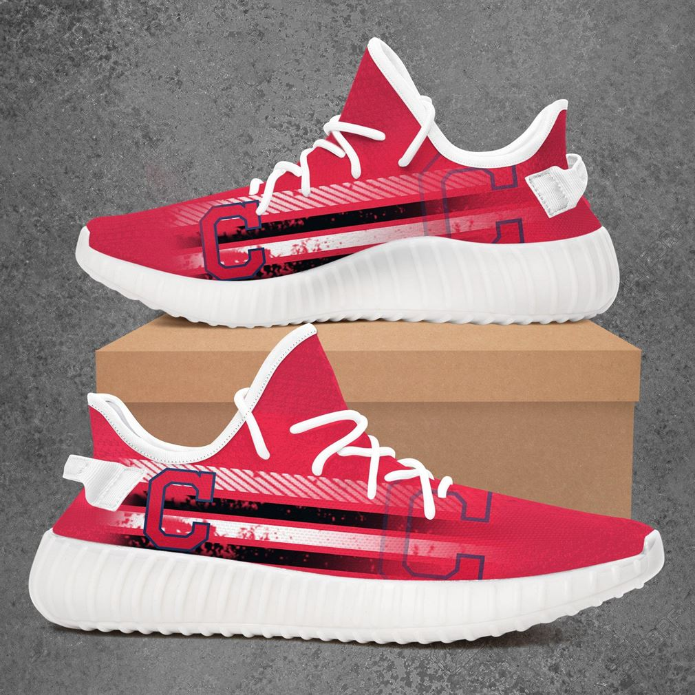 Cleveland Indians Mlb Baseball Yeezy Sneakers Shoes