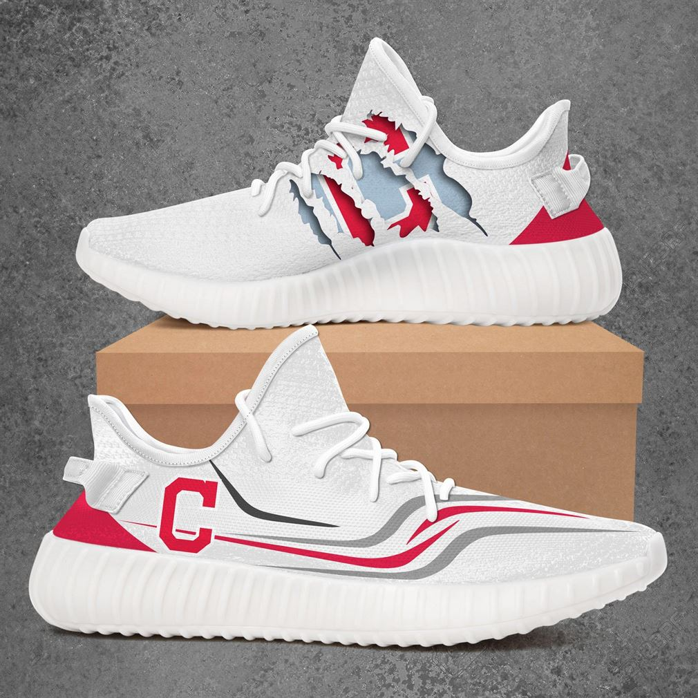 Cleveland Indians Mlb Sport Teams Yeezy Sneakers Shoes White