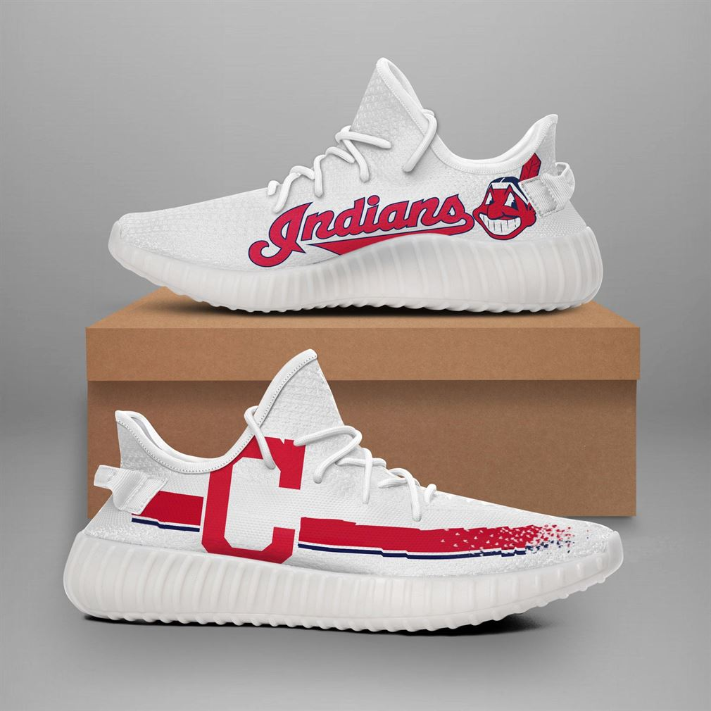 Cleveland Indians Mlb Teams Runing Yeezy Sneakers Shoes