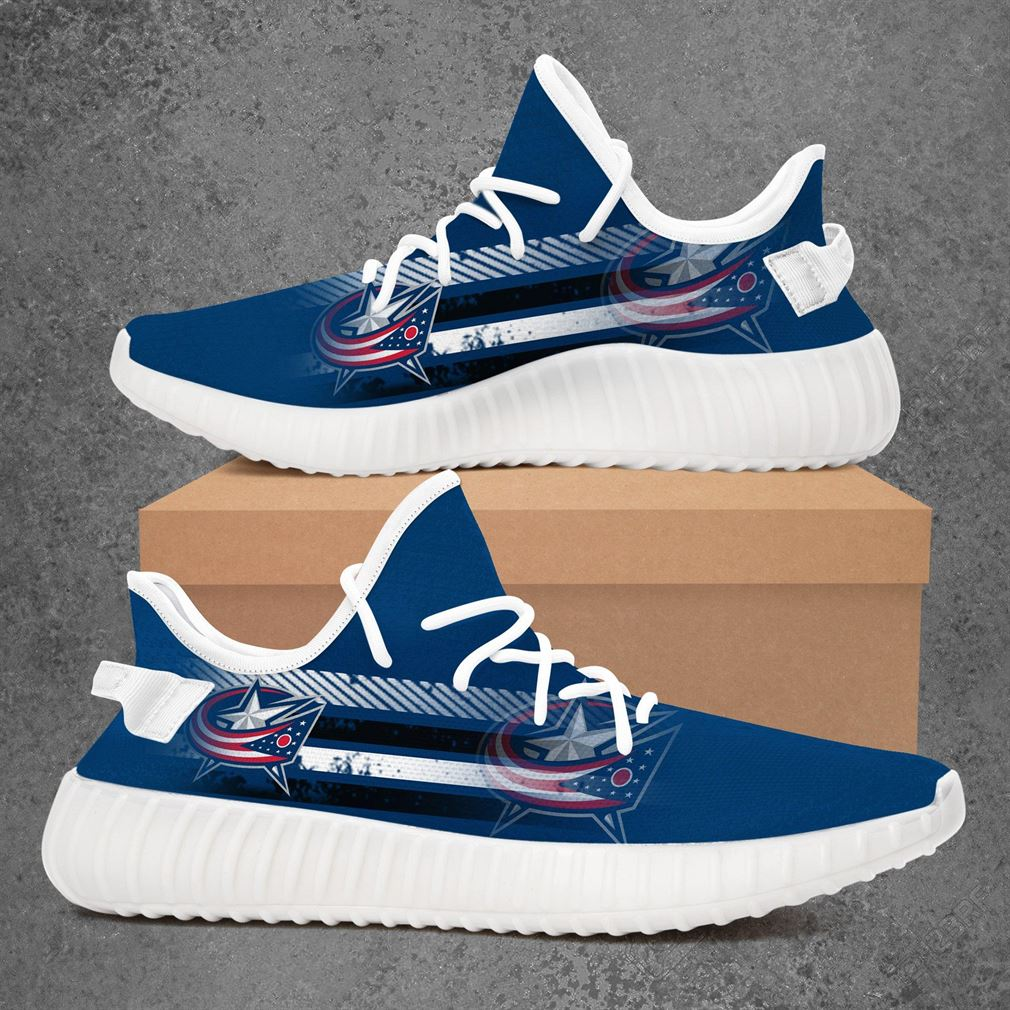 Columbus Blue Jackets Nfl Football Yeezy Sneakers Shoes