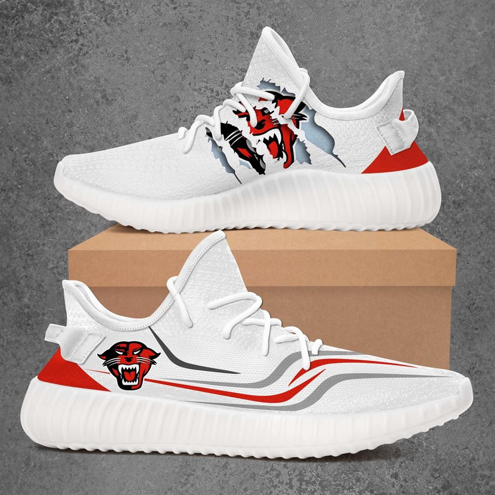 Davenport Panthers Ncaa Sport Teams Yeezy Sneakers Shoes White