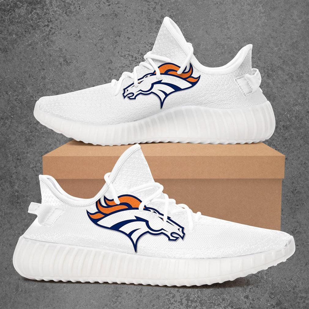 Denver Broncos Nfl Football Sport Teams Yeezy Sneakers Shoes
