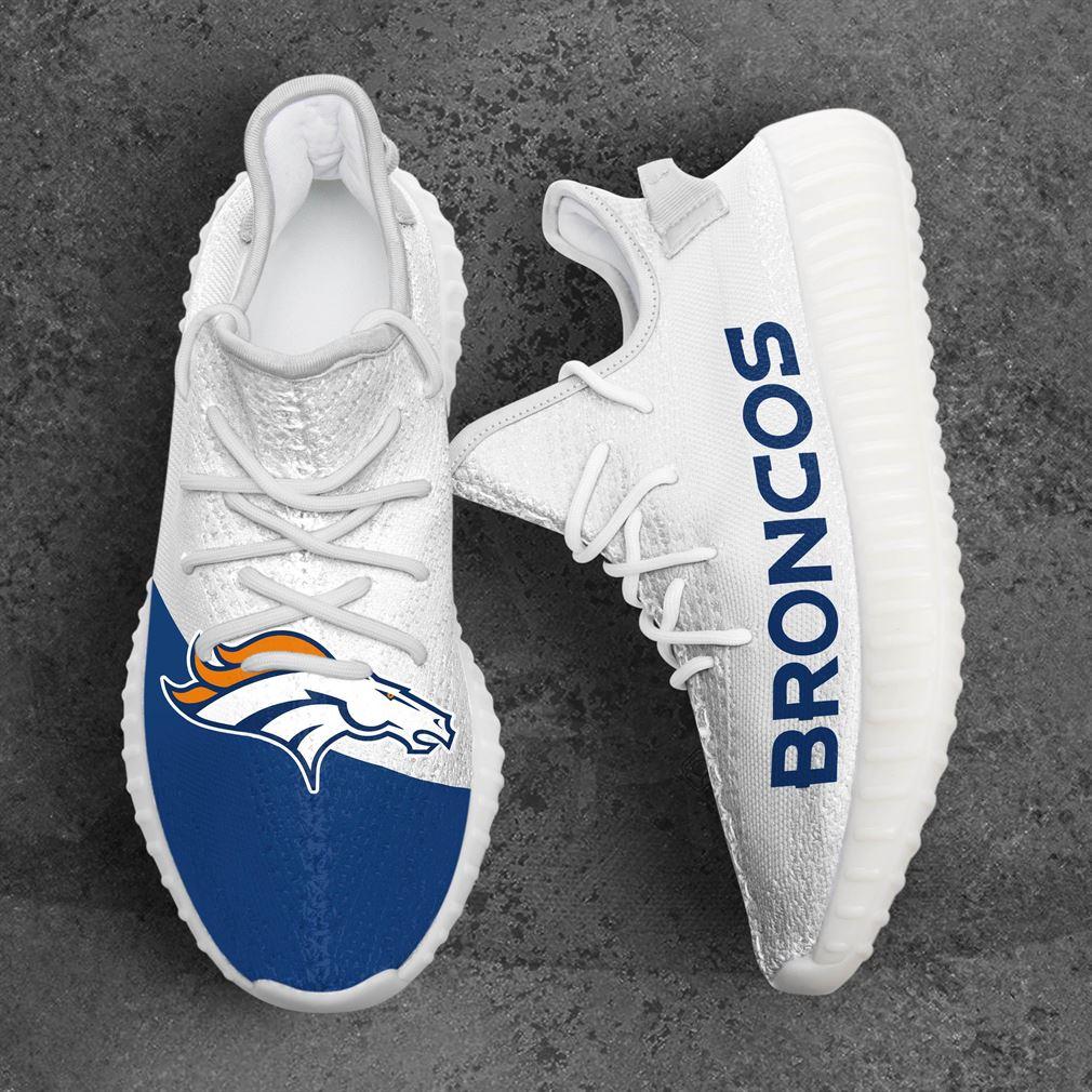 Denver Broncos Nfl Sport Teams Yeezy Sneakers Shoes