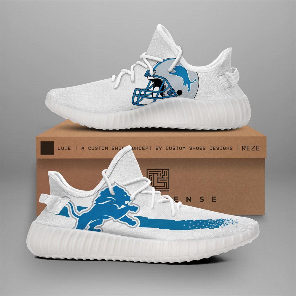 Detroit Lions Nfl Teams Runing Yeezy Sneakers Shoes