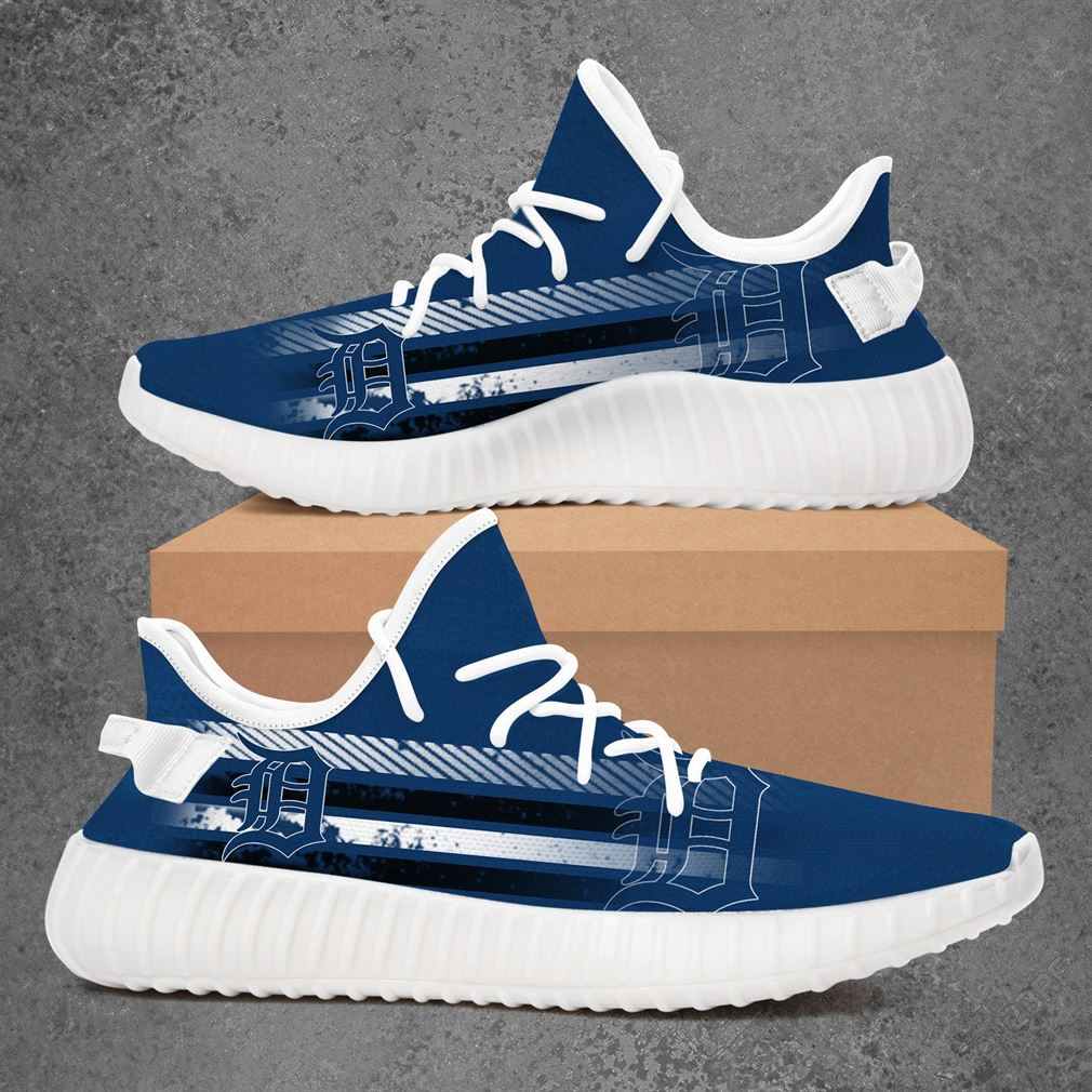 Detroit Tigers Mlb Baseball Yeezy Sneakers Shoes