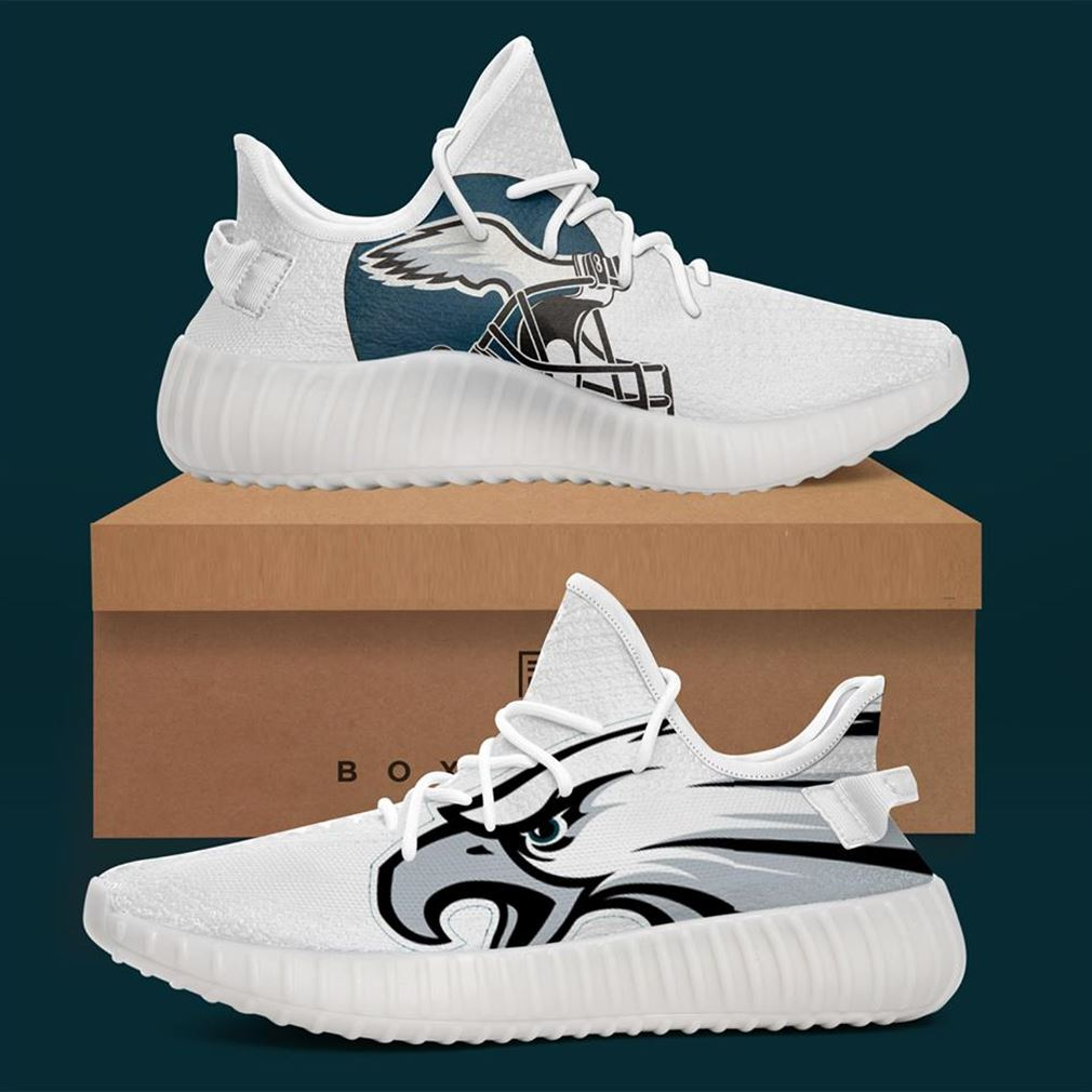 Eagles Custom Yeezy Sneakers Shoes