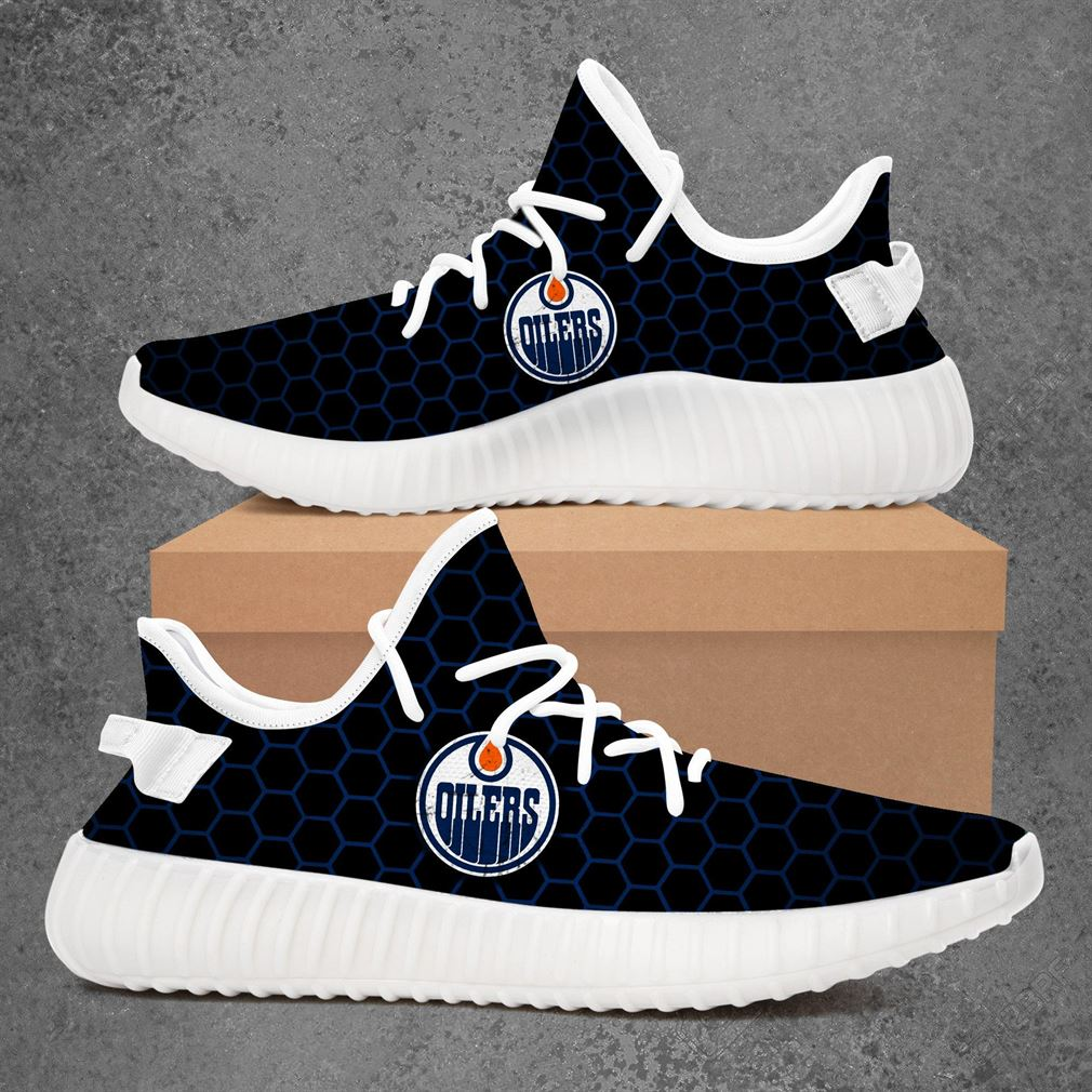 Edmonton Oilers Nhl Hockey Yeezy Sneakers Shoes