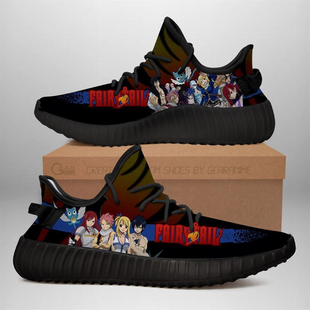 Fairy Tail Yz Sneakers Anime Shoes Yeezy Sneakers Shoes Black