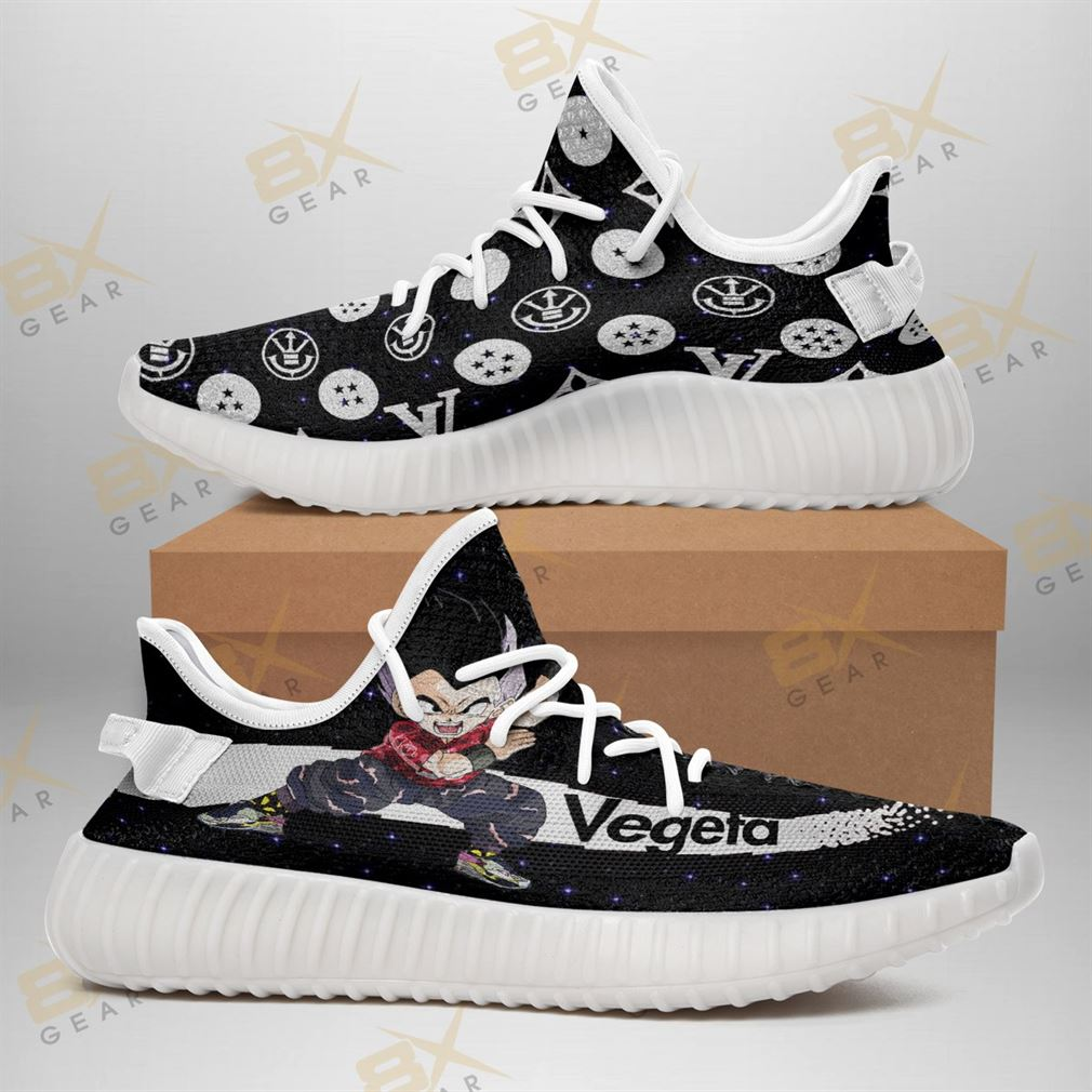 Fashion Vegeta Dragon Ball Yeezy Sneakers Funny Gift Idea Yeezy Sneakers Shoes White